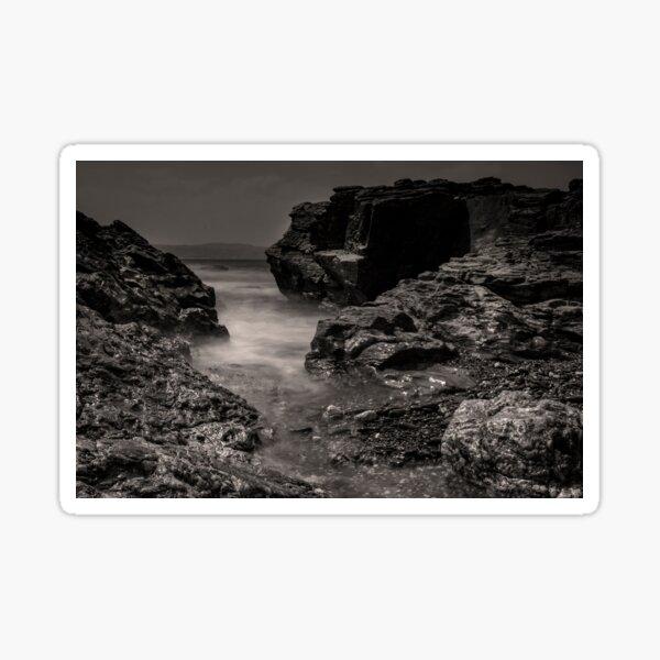 Rocky sea inlet Sticker