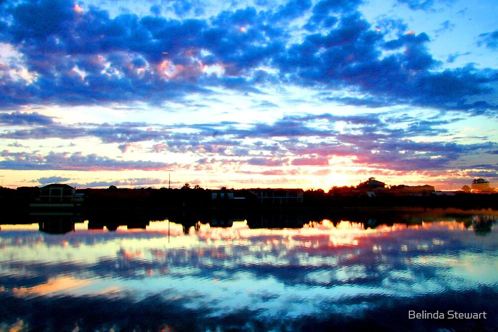 west lakes in evening by Belinda Stewart
