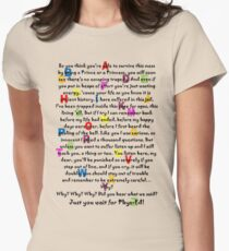 Alphabet School Song - Matilda - dark text Womens Fitted T-Shirt