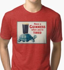 vintage Guinness beer ad Tri-blend T-Shirt