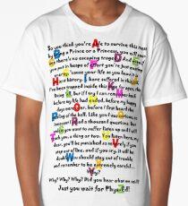Alphabet School Song - Matilda - dark text Long T-Shirt