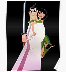 Samurai Jack and Ashi  Poster