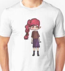 Pink haired girl Unisex T-Shirt