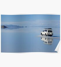 Car on water - Salar Uyuni Poster