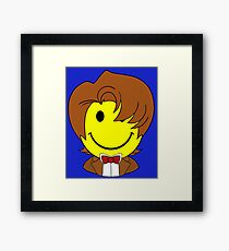 Happy Dr. Who Face Framed Print