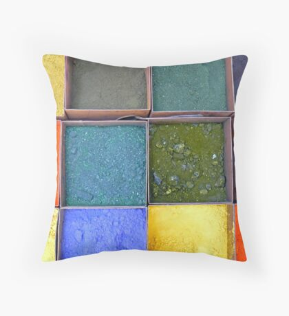 Colours and Shades Throw Pillow