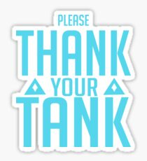Tank you Sticker