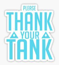 Tank you Sticker