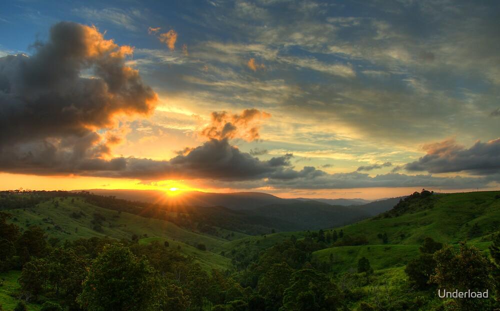 Mountain Sunset by Underload