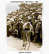 GIRO d ITALIA: Vintage 1968 Eddie Merckx Victory Print Poster