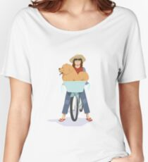 Daisypuff Goes To The Beach Women's Relaxed Fit T-Shirt