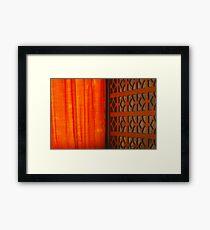 Tangerine Screen Framed Print