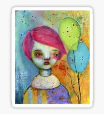 The Girl who is a Clown Sticker