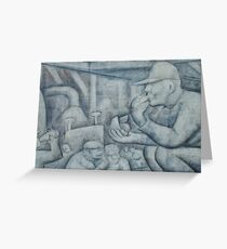 Detroit Diego Rivera Mural Greeting Card