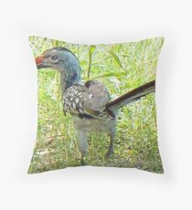 Red-billed Hornbill  (II) Throw Pillow