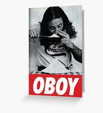 Oboy - Cocaine Greeting Card