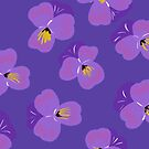 Pretty Pansies on Violet by inkandstardust