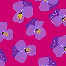Pretty Pansies on Pink by inkandstardust