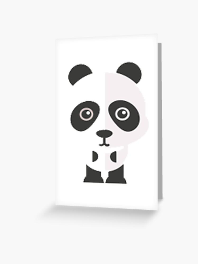 Cartoon Baby Panda Bear Anti Racism Greeting Card By Merchhost Redbubble