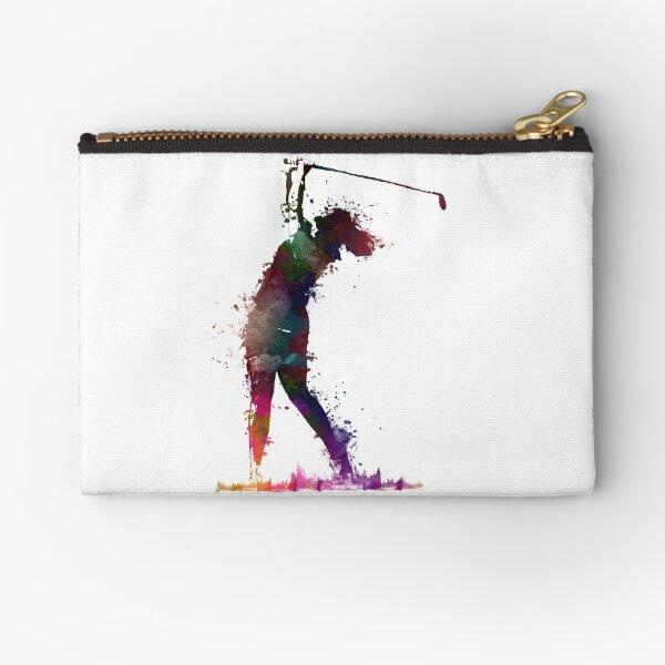 Golf player 2 #sport #golf Zipper Pouch