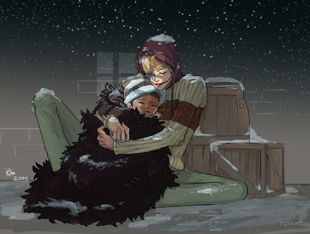 Corazon and Law (Snowy Night) by rspixart