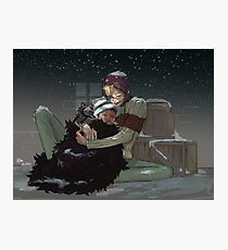Corazon and Law (Snowy Night) Photographic Print