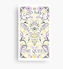 god save the queen bee Canvas Print