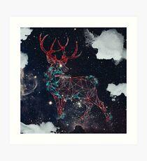 Celestial Deer Art Print
