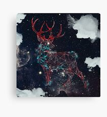Celestial Deer Canvas Print