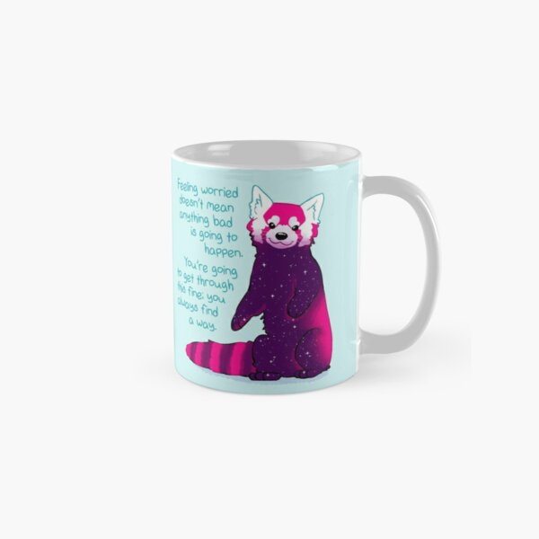 """""""Feeling Worried Doesn't Mean Anything Bad Is Going to Happen"""" Galaxy Red Panda Classic Mug"""