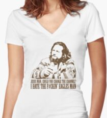 Big Lebowski Eagles Tshirt Women's Fitted V-Neck T-Shirt