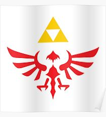 Hylian Crest & Triforce Poster