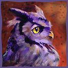 Fun Purple Owl Profile by Theresa Taylor Bayer