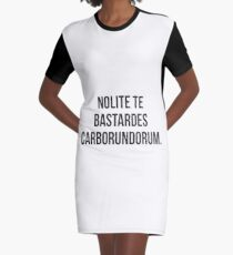 Nolite te bastardes carborundorum. Handmaid's Tale Graphic T-Shirt Dress