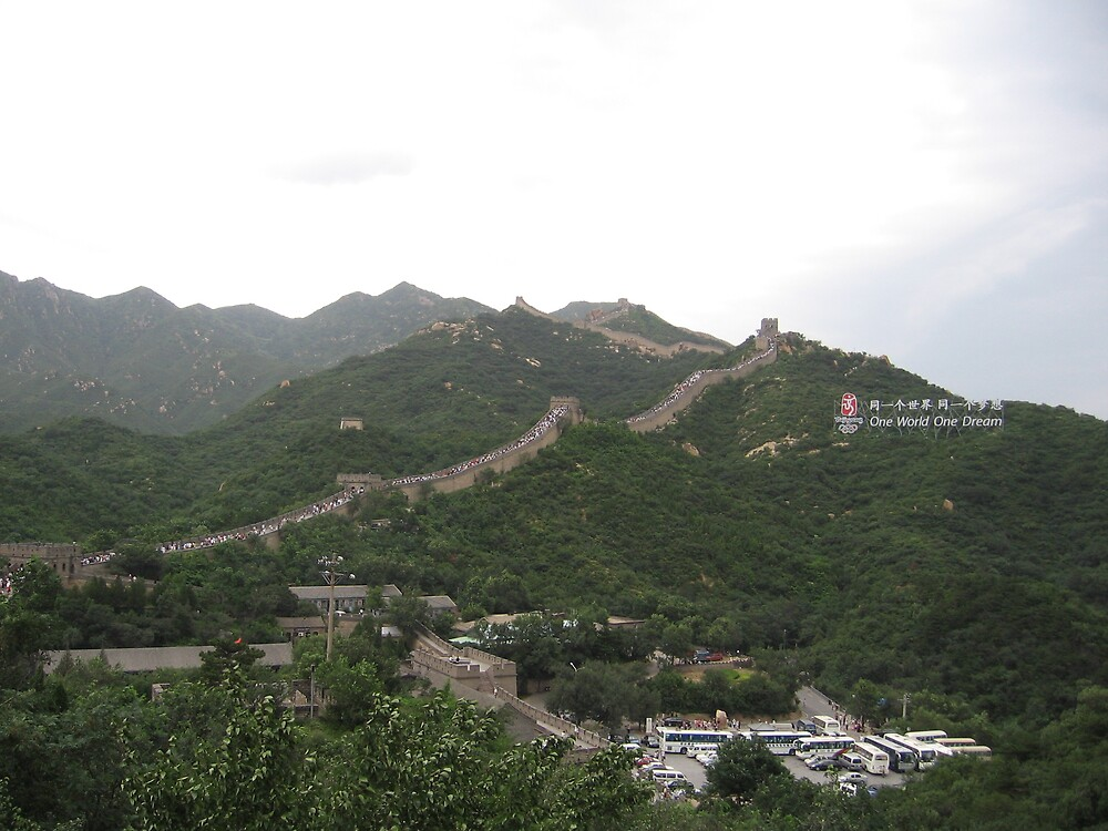 Great Wall at Badaling, China by Chris  Gisclair