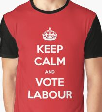Keep Calm and Vote Labour Graphic T-Shirt