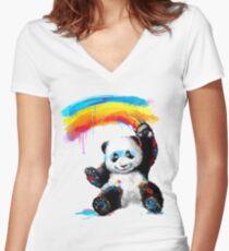 Giant Painter Women's Fitted V-Neck T-Shirt