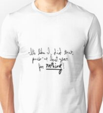 30 Rock It's like I did that push-up last year for nothing! Quote Unisex T-Shirt