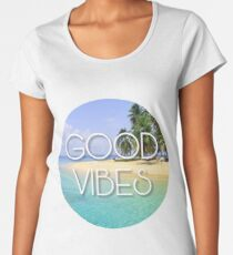 Summer Good Vibes Hippie Print Women's Premium T-Shirt