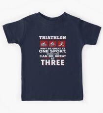 Triathlon Be Great At Three Sports Kids Tee