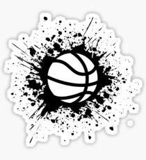 basketball splat Sticker