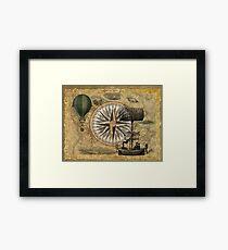 Steampunk Travelers Framed Print