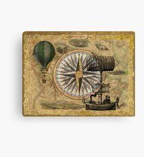 Steampunk Travelers Canvas Print