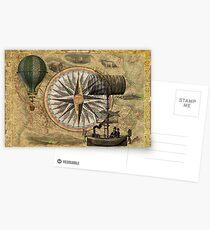 Steampunk Travelers Postcards