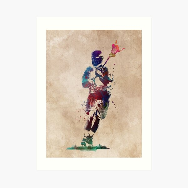 Lacrosse player art 2 #sport #lacrosse Art Print