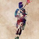 Lacrosse player art 2 #sport #lacrosse by JBJart