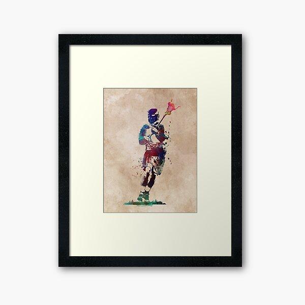 Lacrosse player art 2 #sport #lacrosse Framed Art Print