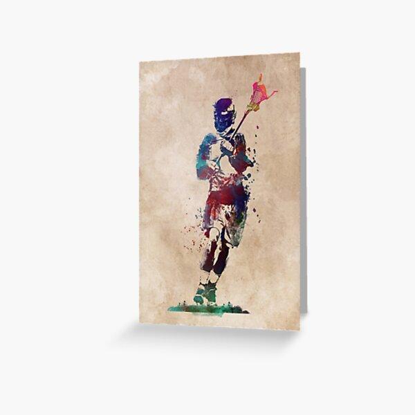 Lacrosse player art 2 #sport #lacrosse Greeting Card