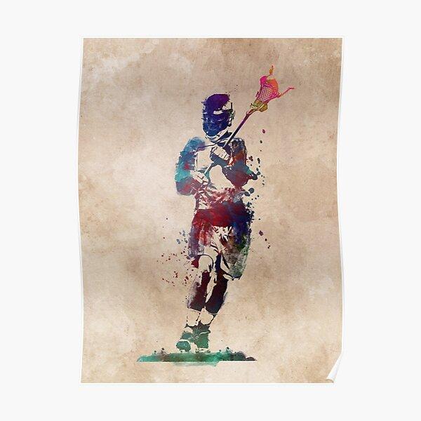 Lacrosse player art 2 #sport #lacrosse Poster