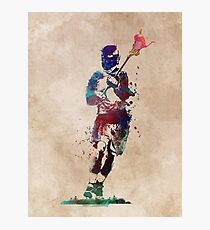 Lacrosse player art 2 #sport #lacrosse Photographic Print